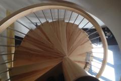 Escalier colimaçon en frêne