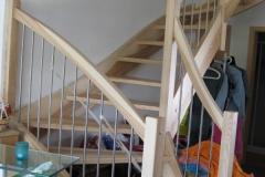 Escalier en frêne